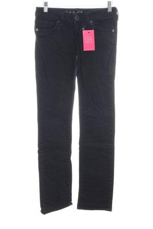 Mavi Straight-Leg Jeans schwarz Casual-Look