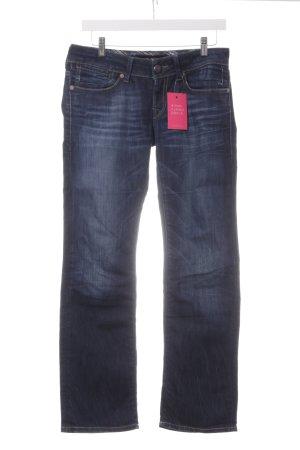 Mavi Straight-Leg Jeans dunkelblau Bleached-Optik