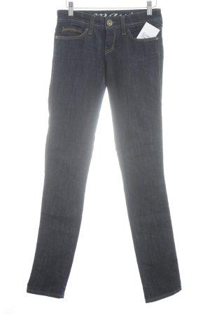 Mavi Straight-Leg Jeans dunkelblau Street-Fashion-Look