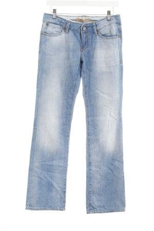 Mavi Straight-Leg Jeans hellblau Washed-Optik