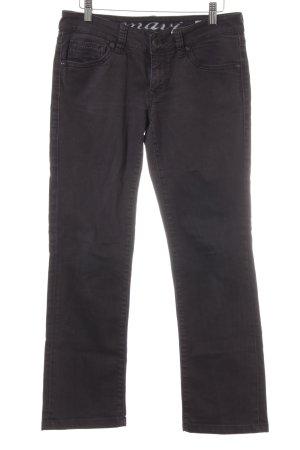 Mavi Straight-Leg Jeans schwarz Jeans-Optik