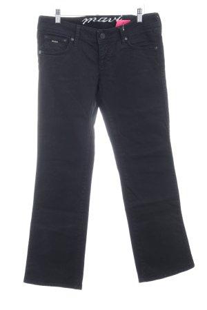 Mavi Straight-Leg Jeans schwarz-silberfarben Casual-Look