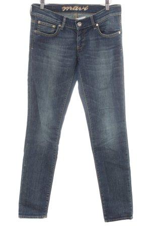Mavi Straight-Leg Jeans stahlblau-himmelblau Casual-Look