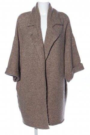 Mavi Knitted Coat brown flecked casual look