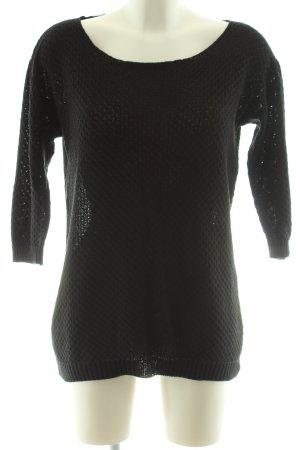 Mavi Strickpullover schwarz grafisches Muster Casual-Look