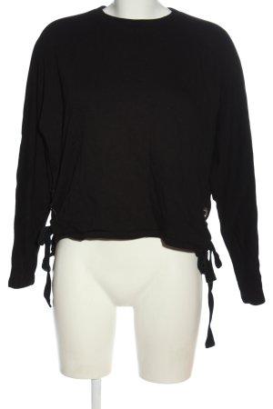 Mavi Sweatshirt noir style décontracté