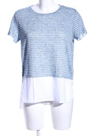 Mavi T-Shirt blau-weiß Streifenmuster Casual-Look