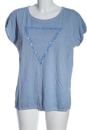 Mavi T-Shirt blau meliert Casual-Look