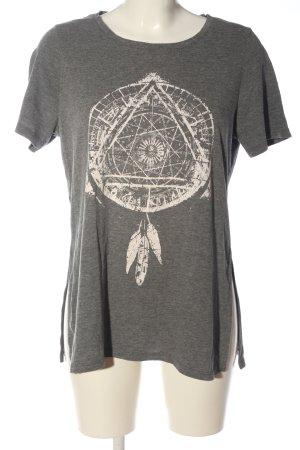 Mavi T-Shirt hellgrau-creme meliert Casual-Look
