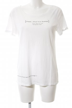 Mavi T-Shirt weiß Motivdruck Casual-Look