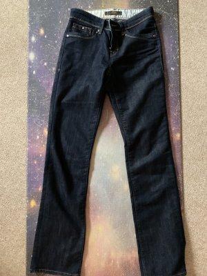 mavi UPTOWN Jeansy z prostymi nogawkami ciemnoniebieski Bawełna