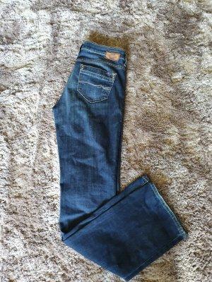 mavi UPTOWN Jeansy z prostymi nogawkami ciemnoniebieski