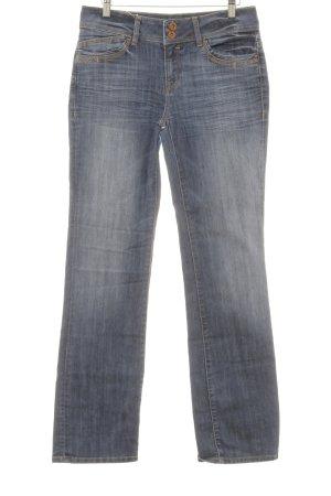mavi UPTOWN Straight-Leg Jeans blau Glitzer-Optik