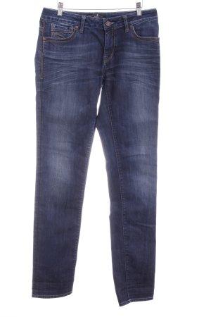 mavi UPTOWN Straight-Leg Jeans dunkelblau-blassblau Washed-Optik