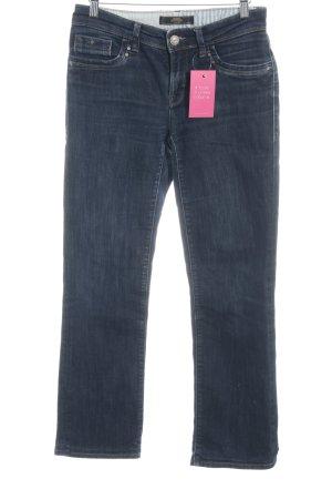 mavi UPTOWN Straight-Leg Jeans dunkelblau Street-Fashion-Look