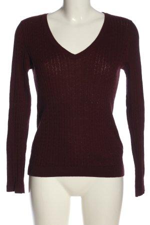Mavi V-Ausschnitt-Pullover rot Casual-Look