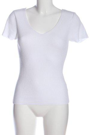 Mavi V-Ausschnitt-Shirt weiß Casual-Look
