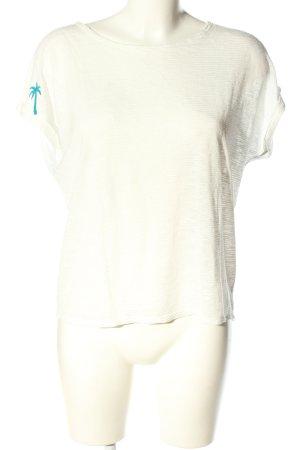Mavi Koszulka z dekoltem woda w kolorze białej wełny-turkusowy W stylu casual