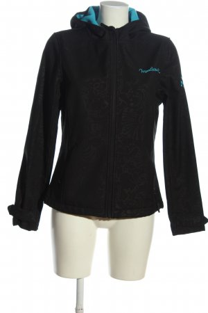 mavi wowie Windbreaker black-turquoise embroidered lettering casual look