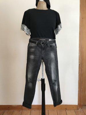 Mavi zerrissene Jeans