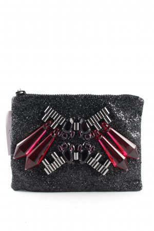 Mavi Clutch schwarz-silberfarben Business-Look