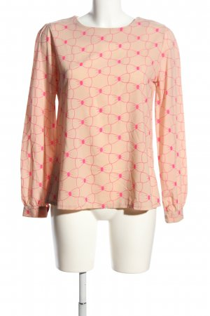 Max C Langarm-Bluse nude-pink Allover-Druck Business-Look