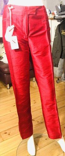 Max Casoli Pantalón capri rojo