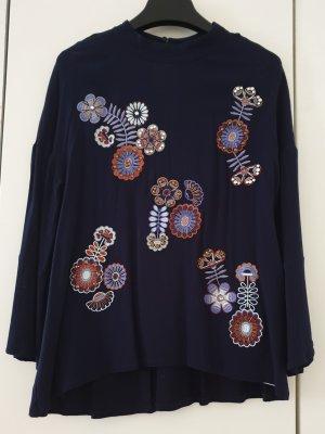 Max&Co Bluse mit aufwendigen Blumenstickereien