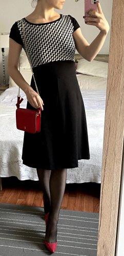 Max&Co Etuikleid Kleid Gr. 36 S schwarz weiß elegant Midikleid Büro business