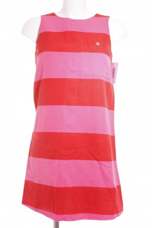Max & Co. Etuikleid rot-rosa Streifenmuster klassischer Stil