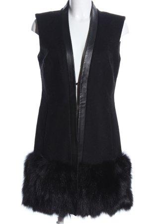 Max & Co. Fur vest black elegant