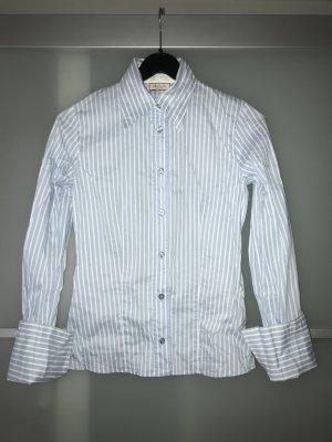 Max & Co. Long Sleeve Shirt white-azure cotton
