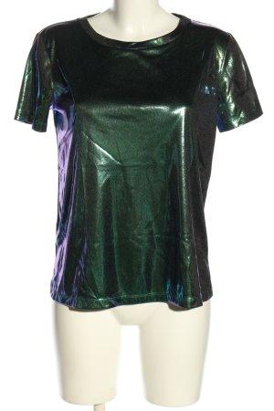 Max & Co. Glanzende blouse groen wetlook