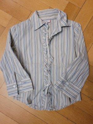 Max & Co. Camisa de manga larga blanco-azul celeste