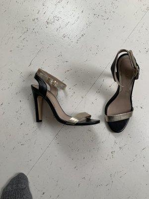 MAX & CO High Heels, Gold/ Schwarz, Leder, Größe 37