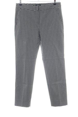 Max & Co. Spodnie karoty czarny-biały Na całej powierzchni W stylu biznesowym