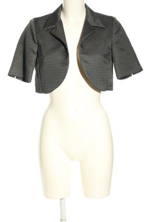 Max & Co. Kurz-Blazer schwarz-weiß Allover-Druck Casual-Look