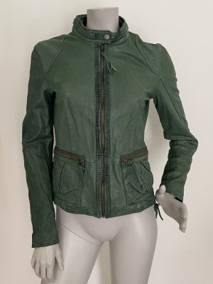 Max & Co. Leather Jacket green-forest green leather