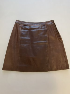 Max & Co. Leather Skirt dark brown leather