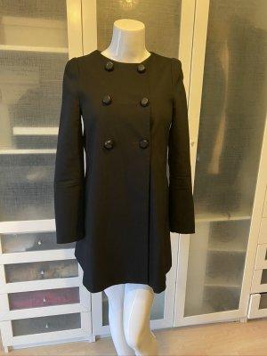 Max & Co. Heavy Pea Coat black cotton