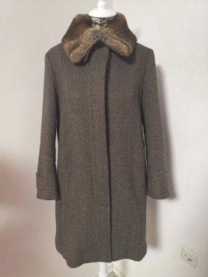 Max & Co. Wool Coat dark grey-black brown wool