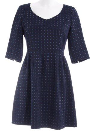 Max & Co. Minikleid dunkelblau-kornblumenblau Punktemuster Business-Look