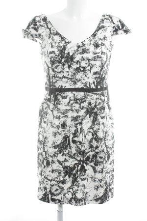 Max & Co. Minikleid weiß-schwarz Blumenmuster Business-Look