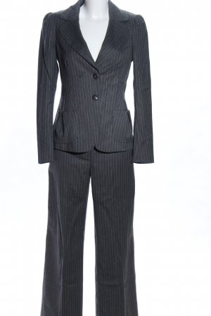 Max & Co. Pinstripe Suit light grey flecked business style