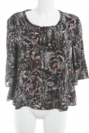 Max & Co. Oversized Bluse schwarz Blumenmuster Casual-Look