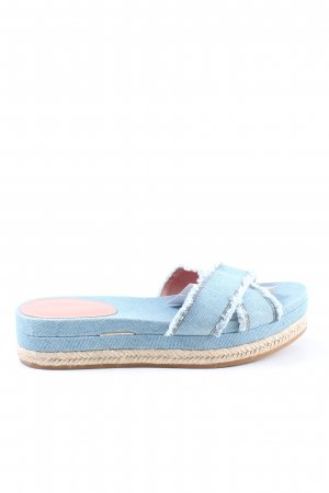 Max & Co. Pantuflas azul-blanco look casual