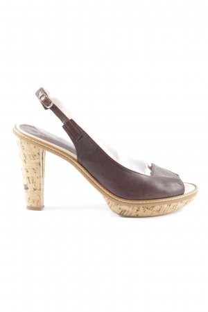 Max & Co. Peep Toe Pumps brown business style
