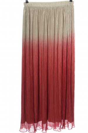 Max & Co. Pleated Skirt natural white-red color gradient elegant
