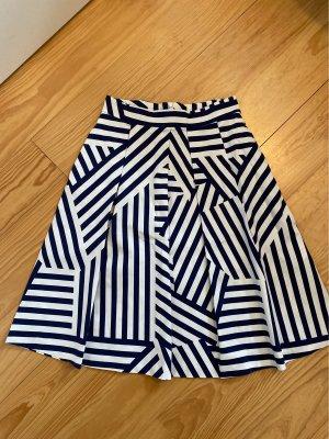 Max & Co. Jupe à plis blanc-bleu foncé