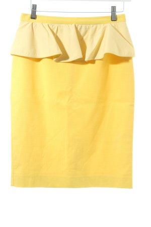 Max & Co. Rock gelb-weiß Karomuster Metallelemente